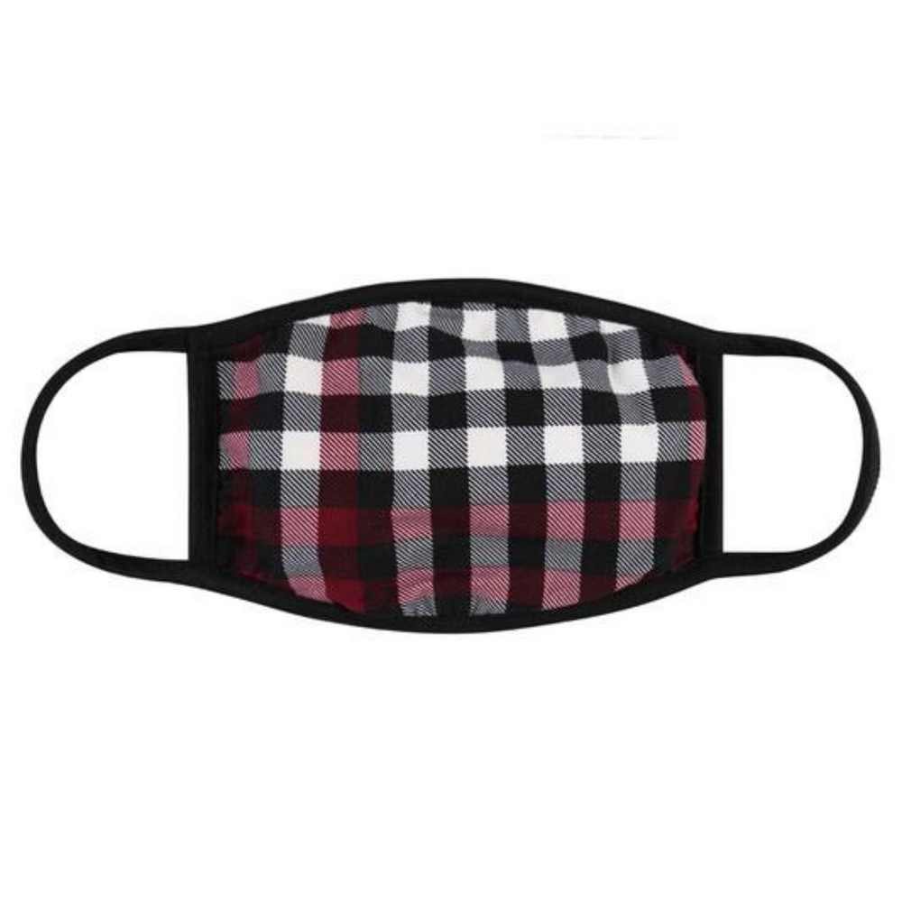 Red Checker Plaid with Filter Pocket