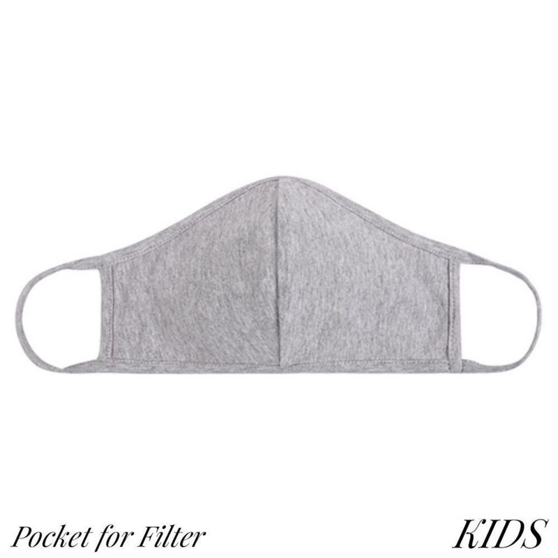 Kids Face Masks with Filter Pocket