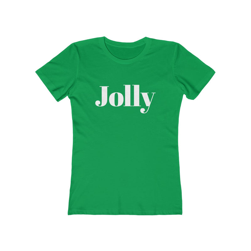 Jolly Women's Christmas Tee - Burlap & Lace