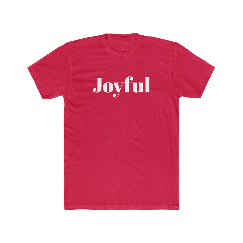 Joyful Men's Christmas Tee - Burlap & Lace