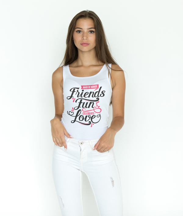 Maid of Honor ~ Celebrate ~ Love (Racerback Tank)