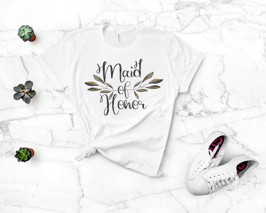 Floral Maid of Honor Tee