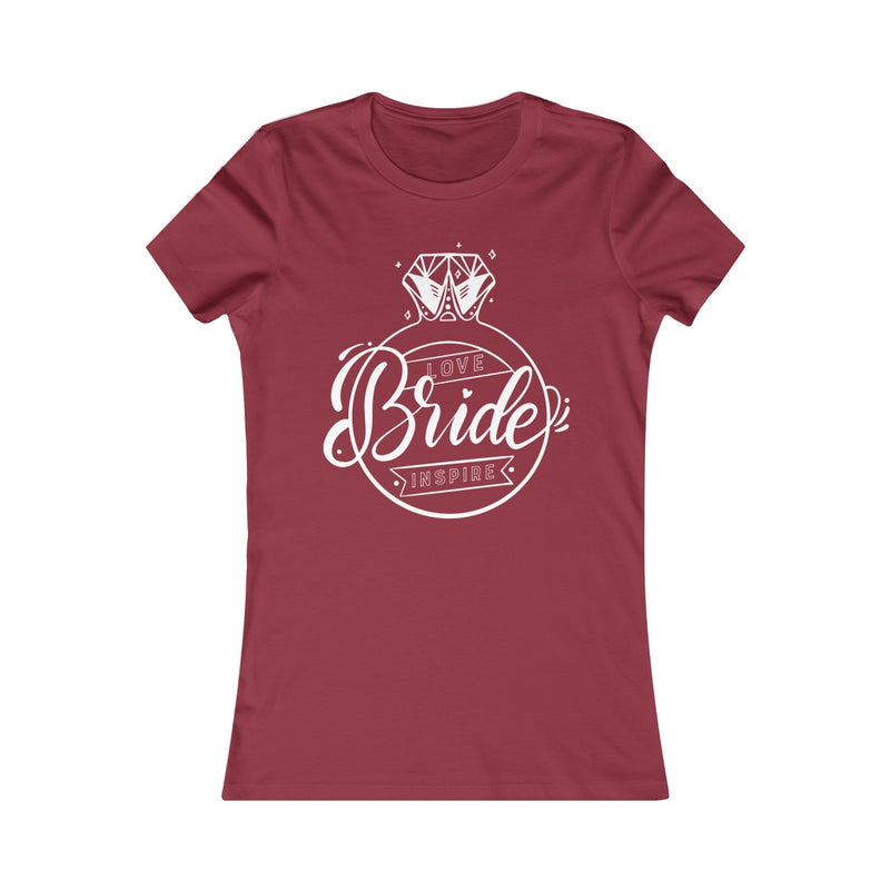 Bride ~ Inspire ~ Love (Fitted T) - Burlap & Lace