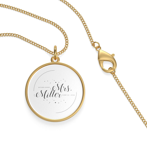 "The ""Mrs"" Necklace with Wedding Date"