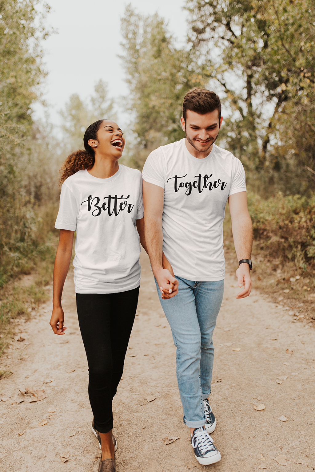 Better Together Couples Tee - Part 2 - Burlap & Lace