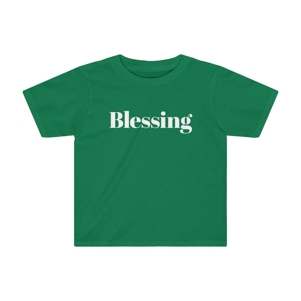 Blessing Little Kids Christmas Tee - Burlap & Lace