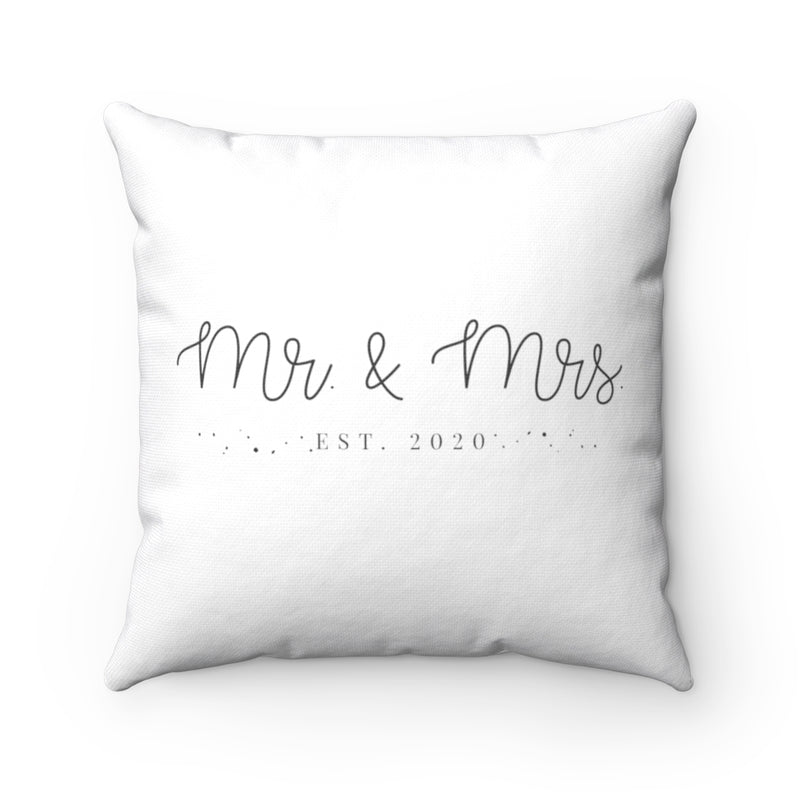 Mr. & Mrs. Est. 2020 Square Pillow