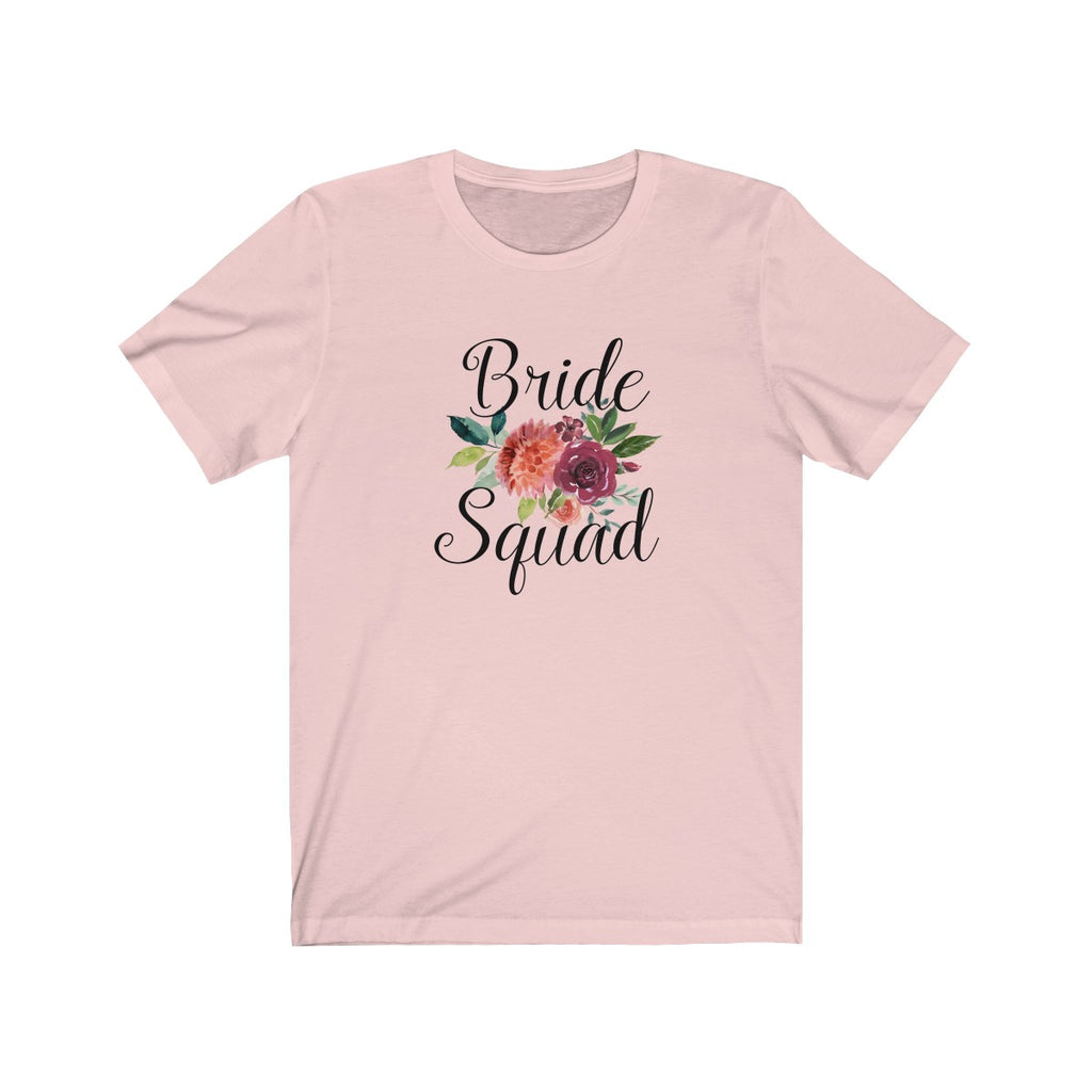Watercolor Flowers Bride Squad Tee
