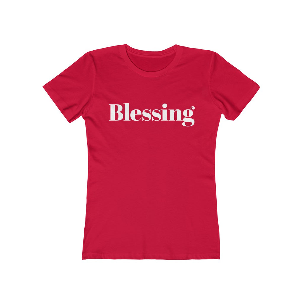 Blessing Women's Christmas Tee - Burlap & Lace