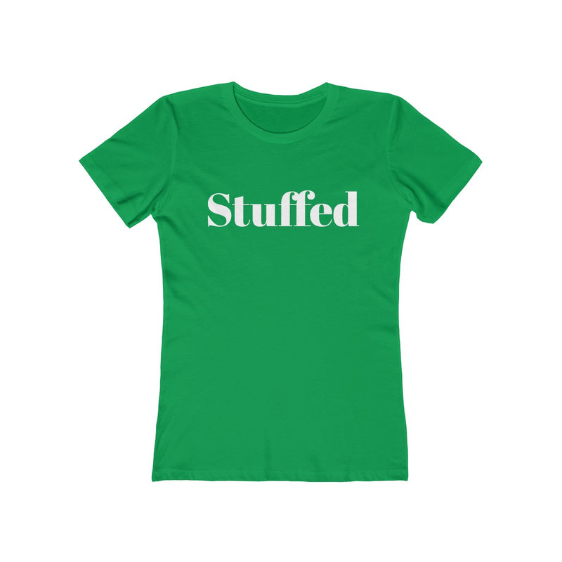 Stuffed Women's Christmas Tee - Burlap & Lace
