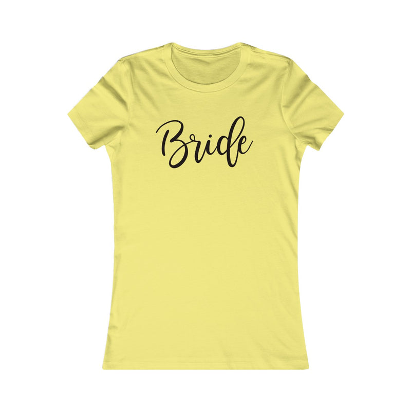 Bride Fitted Tee - Burlap & Lace