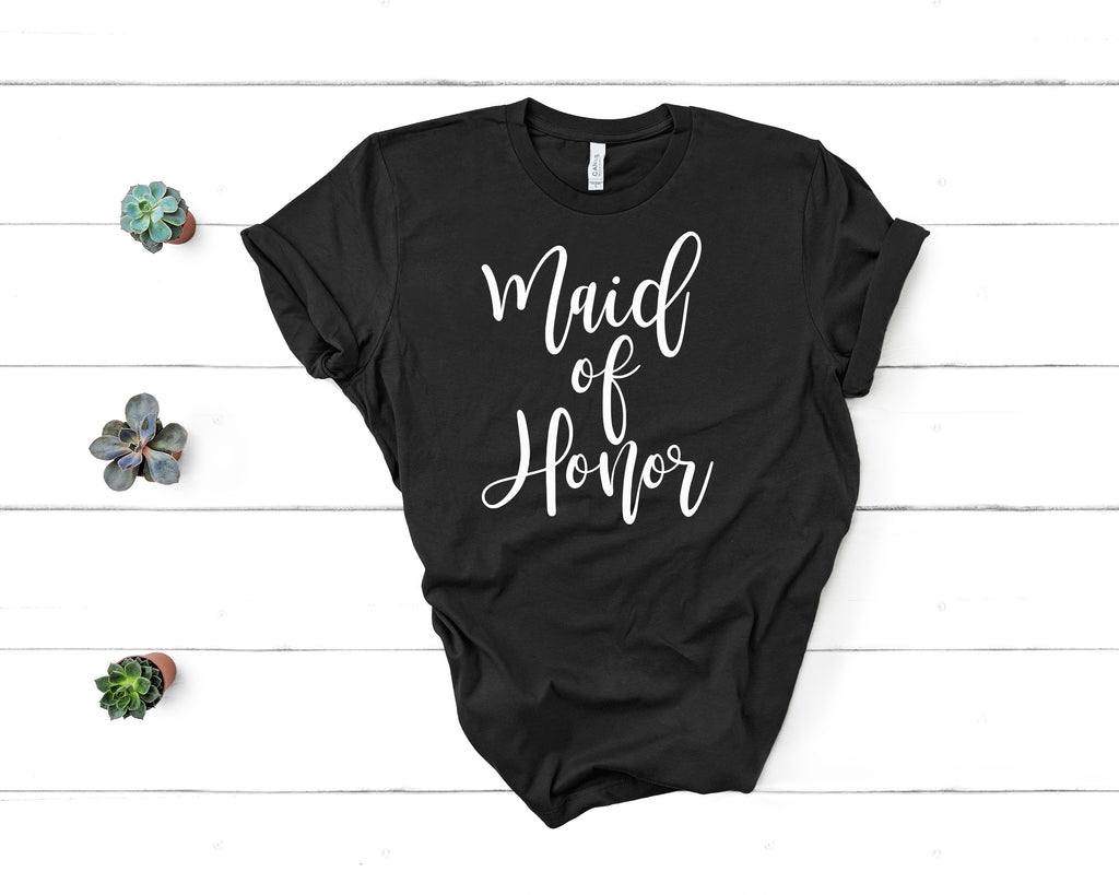 Maid of Honor in Black (Classic Tee)