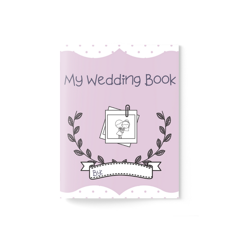Wedding Activity Book ~ Purple - Burlap & Lace