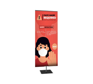 Medium Table Top Banner Stand