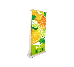 Deluxe Wide Base Double-Screen Roll Up Banner Stand