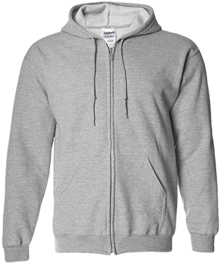 G186 Men's Zip Up Hooded Sweatshirt