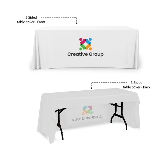 Custom White Table Cover