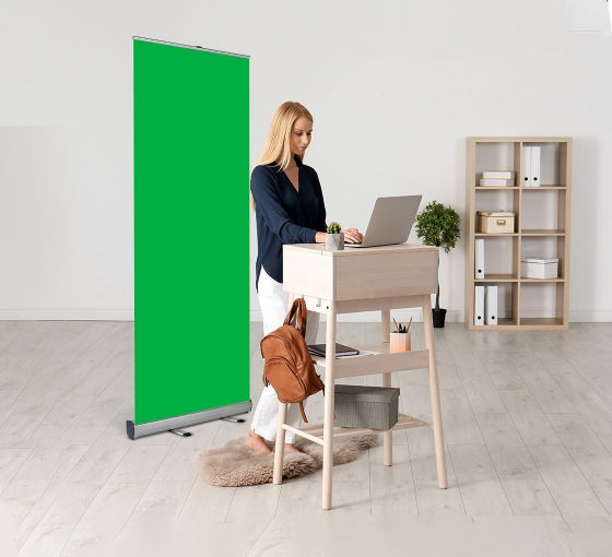 Retractable Green Screen Banner
