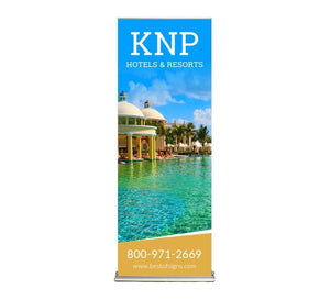 "Silverstep 24"" Retractable Banner Stand"