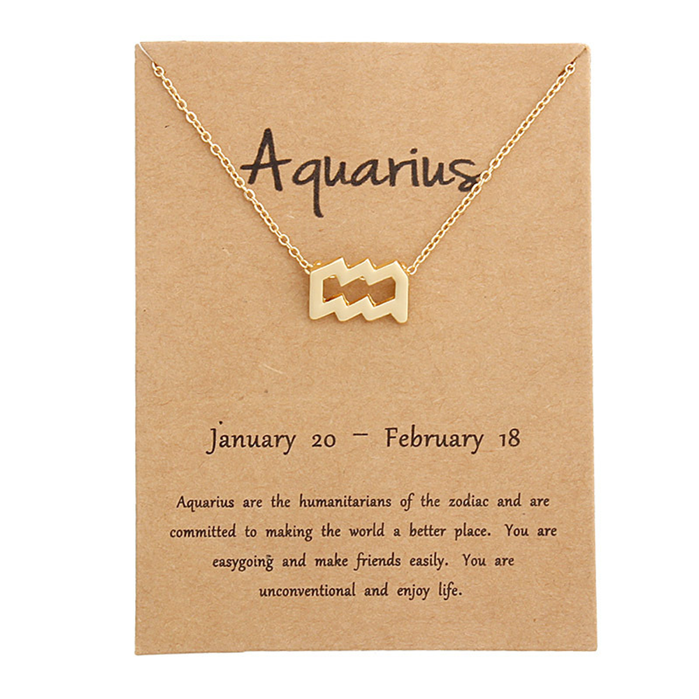 Gold Zodiac Constellation Necklace