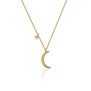 Classic Moon Star Necklace