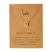 Load image into Gallery viewer, Gold Zodiac Constellation Necklace