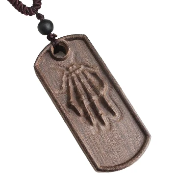 Bone Hand Sandalwood Necklace
