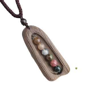 Crystal Pearl Sandalwood Necklace