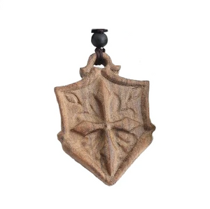 Knights Shield Sandalwood Necklace
