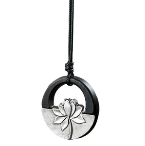 Black Lotus Sandalwood Necklace
