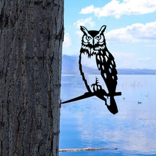Load image into Gallery viewer, Owl Steel Branch Stake