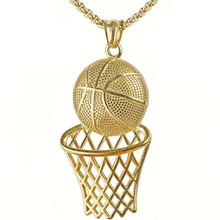 Load image into Gallery viewer, Basketball Hoop Bling Necklace