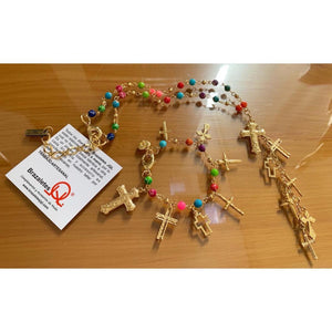 Set Collar y Pulsera Colores 7 Cruces