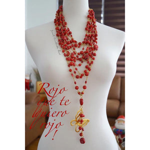 Collar Doble Coral