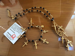 Set Collar y Pulsera 7 Cruces