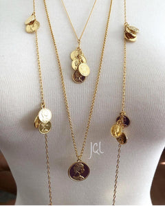 Collar Monedas Triple