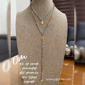 Collar Doble Ojitos Buda y Om