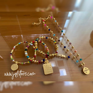 Set Pulseras y Collar Corto Mom M5