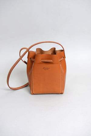 Handcrafted Tan Leather Bucket bag