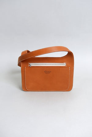 Handcrafted Tan Leather Small Hip Satchel