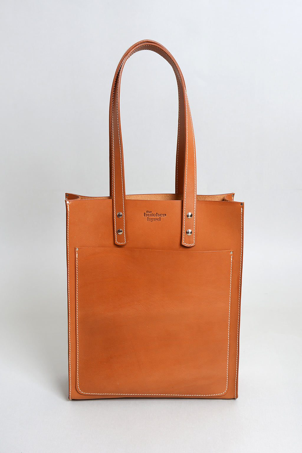 Handcrafted Tan Leather Pocket Tote