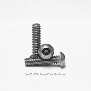 "1/4-20 x 1"" Button Head Screwd® Security  Machine Screw Made out of Stainless Steel"
