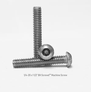 "1/4-20 x 1 1/2"" Button Head Screwd® Security  Machine Screw Made out of Stainless Steel"
