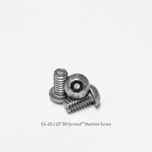 "1/4-20 x 1/2"" Button Head Screwd® Security  Machine Screw Made out of Stainless Steel"