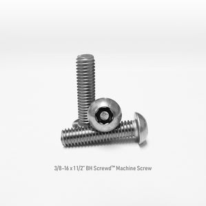 "3/8-16 x 1 1/2"" Button Head Screwd® Security  Machine Screw Made out of Stainless Steel"