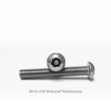 "Load image into Gallery viewer, 3/8-16 x 2 1/2"" Button Head Screwd® Security  Machine Screw Made out of Stainless Steel"