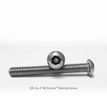 "Load image into Gallery viewer, 3/8-16 x 3"" Button Head Screwd® Security  Machine Screw Made out of Stainless Steel"