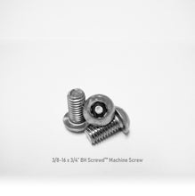 "Load image into Gallery viewer, 3/8-16 x 3/4"" Button Head Screwd® Security  Machine Screw Made out of Stainless Steel"