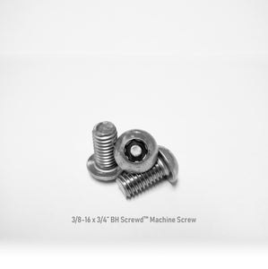 "3/8-16 x 3/4"" Button Head Screwd® Security  Machine Screw Made out of Stainless Steel"