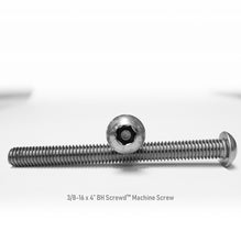 "Load image into Gallery viewer, 3/8-16 x 4"" Button Head Screwd® Security  Machine Screw Made out of Stainless Steel"